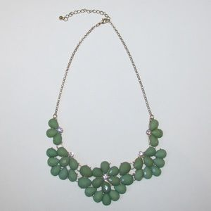 Green flower Francesca's statement necklace